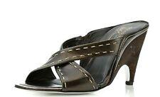 Donald J Pliner 7223 Nidra Brown Leather Wedge Sandals Size 7 M