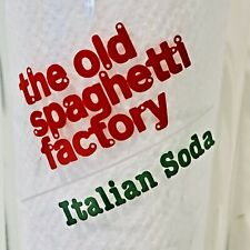 Vintage the old spaghetti factory italian soda skinny tall glass Italy Flag