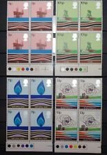 Great Britain 1978 Energy Resources Four Blocks of 4 Stamps (Scott 827-30) Mnh