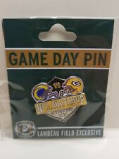 2021 Los Angeles Rams VS Green Bay Packers GAME DAY PIN 11/28/21 Free Shipping