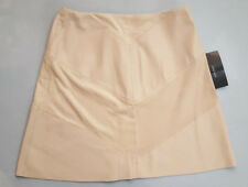 ZARA BASIC COLLECTION PEARL PINK FAUX SUEDE LEATHER FLARE MINI SKIRT SIZE S