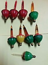 8 Bubble Lights Christmas C6 Light Bulbs Working 3 Red 1 Amber 4 Amber Floaters