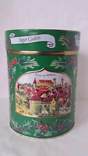 "Round Green Lambertz Sugar Cookie Tin Music Box ""We Wish You A Merry Christmas"""