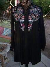 Darling Embroidered Velvet Back Festival Tunic Dress~XS~Zara