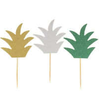 6pcs pineapple cupcake pick cake topper birthday party baby shower decor WG