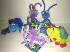 Disney A Bug's Life Beanie Plush Lot of 5 NWT