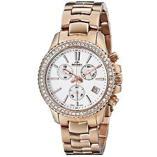 Swiss Made Rotary Women's Rose Gold-Tone Watch Quartz Stainless Steel Case