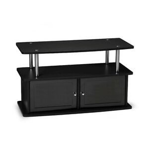 Convenience Concepts Designs2Go TV Stand with 2 Cabinets, Black - 151160