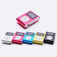 Reproductor Lector MP3 Player Clip Aluminio con Pantalla LCD hasta 32GB SD TF