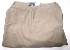 Stafford 556-6209 Big & Tall Everyday Trousers Khaki Unfinished Sz 50/42 NWT $70