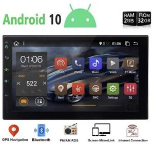 Android 10.0 Car Stereo GPS Navi Radio Player Double Din WIFI 7 Inch Quad-core