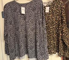J Jill And J Crew Leopard Pullover Sweaters 2x Size New With Tags lot of 2
