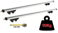 PEUGEOT 406 + ESTATE ALUMINIUM AERO DYNAMIC ROOF BARS SIDE RAIL HEAVY DUTY 90KG