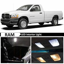 9x White LED Lights Interior Package Kit for 2002-2008 Dodge RAM