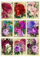 Rose Rose Mariage Amour Fleur Stickers Scrapbook Diary Cardmaking À faire soi-même Turquoise