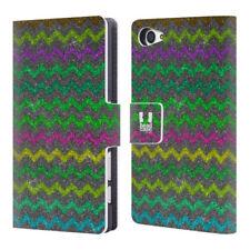 Fundas y carcasas brillantes de piel para teléfonos móviles y PDAs Sony