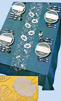 1940s Vintage McCall Embroidery Transfer 890 Uncut Applique Floral Table Cloth
