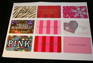 9 VICTORIA'S SECRET COLLECTIBLE GIFT CARDS  (CANADA) French/English