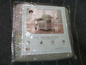 "Reversible Armchair Furniture Protector 75"" x 65"" Greenish Gray Microfiber - New"