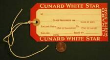 1934-49 Era Liverpool White Star Line large sized suitcase tag-Old Titanic line!