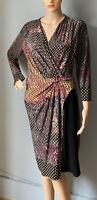 James Lakeland Ladies Stretch Ruched Dress UK Size  14 EU Size 46 Black Mix Exc