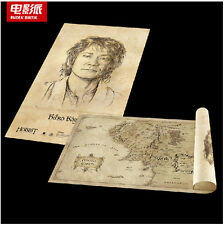 Lord-of-The-Rings-The Hobbit  Middle-earth Map portrait-NEW