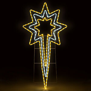 Star Rope Light Christmas Silhouette Flashing LED Outdoor Decoration