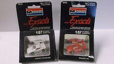 Pair of 1990 Monogram Mini Exacts Ferrari F-40 & Ferrari Testarossa in 1/87th