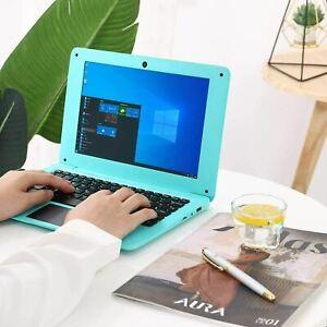 Portable Windows 10 Computer Laptop Mini 10.1 Inch 32GB Ultra Thin (Blue)