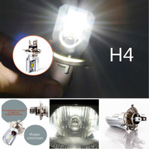 6000K H4 White Motorcycle Headlight Lamp 9003 HB2 LED Bulb Hi/Lo Beam HID Bright