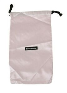DOLCE & GABBANA Dustbag Cover Bag Cotton White Drawstring Shoebag 35cm x 20cm