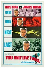 """JAMES BOND - YOU ONLY LIVE TWICE - MOVIE POSTER 18"""" X 12"""" SEAN CONNERY"""