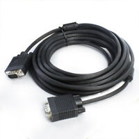 6ft to 30ft VGA HD M/M 15Pin Extension Cable Cord SVGA for PC Laptop Monitor Lot