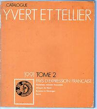 Catalogo YVERT Paises de Expresión Francesa año 1991 (CB-510)