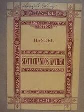VOCAL SCORE Handel sesto Chandos INNO