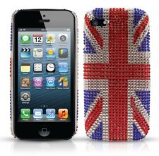 NEW iPHONE 5 DIAMANTE UNION JACK CASE BLING CRYSTAL COVER