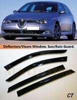 For Alfa Romeo 156 Sportwagon 1997-2007, Windows Visors Deflector Sun Rain Guard