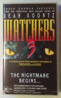 Watchers 3 VHS 1994 Horror Jeremy Stanford Koontz 1999 Force Video Small Case