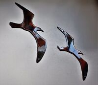 Two Birds Flying Smaller  Metal Wall Art Accents Copper/Bronze Plated