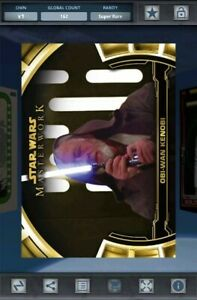 Topps Star Wars Card Trader - Obi-Wan Gold Masterwork Defining Moments