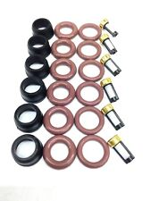 FUEL INJECTOR REPAIR KIT O-RINGS FILTERS PINTEL CAPS GM 3.8L V6 12586551