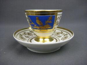 Biedermeier Koppchen mit Goldmalerei >2