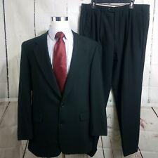 Z2 By Zante Peter's Clothiers 44L 2 Button 2pc Black Suit 37x32 Pleated