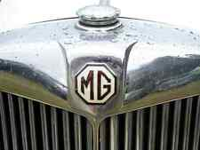 MG Bonnet 2429 Grille Real Photo A4 Metal Sign Aluminium