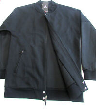 Nike Air Jordan The Varsity Zip Up Jacket Black/Black Large NEW