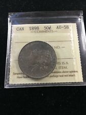 1898  ICCS Graded Canadian Silver 50 Cent, **AU-58**