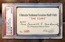 1933 Chicago Cubs Season Pass Ticket PSA 9 Mint Ultra Rare!