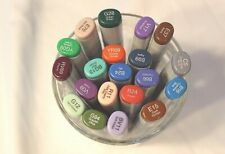 LOT of 20 New COPIC Sketch Double Ended Drawing Art MARKERS No Dups