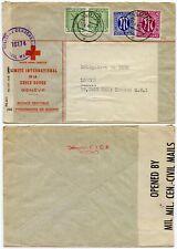GERMANY BERLIN 1946 MILITARY CENSORED CIVIL MAIL RED CROSS ENV PoW to CICR GB
