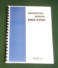 Yaesu FRG-7700 Instruction Manual -  Premium Card Stock Covers & 32 LB Paper!